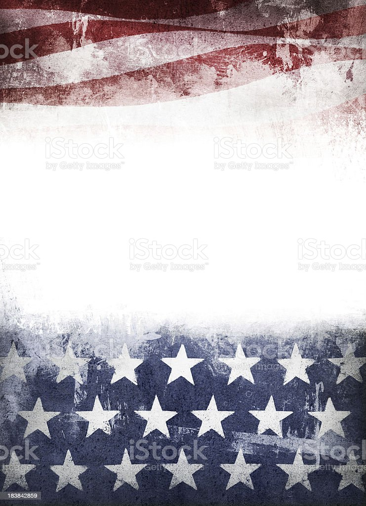 stars and stripes grunge royalty-free stock photo