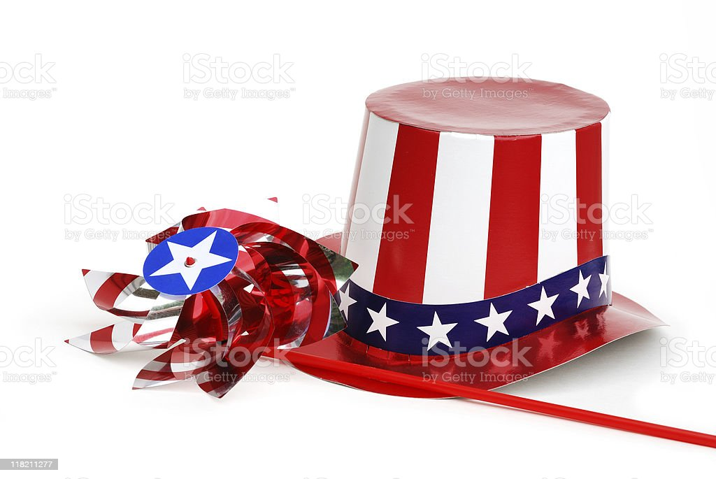 Stars and stripes hat stock photo