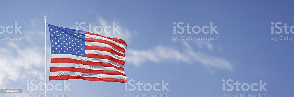 Stars and stripes horizontal stock photo