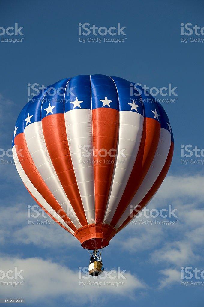 Stars and Stripes Hot Air Balloon royalty-free stock photo
