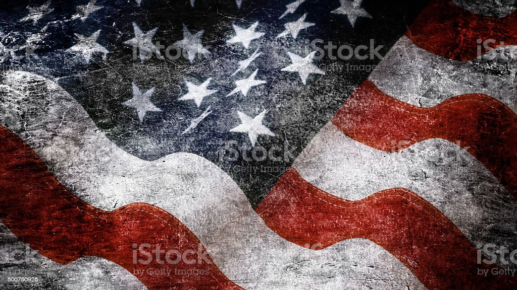 Stars and stripes in grunge style vector art illustration