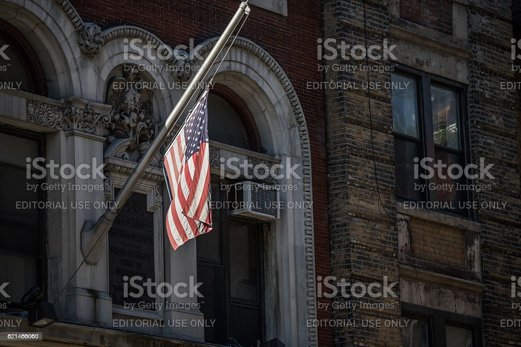 Stars and Stripes,, New York City, United States stock photo