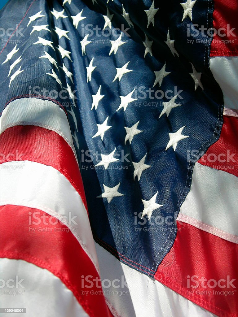 Stars and Stripes of the American flag known as Old Glory royalty-free stock photo