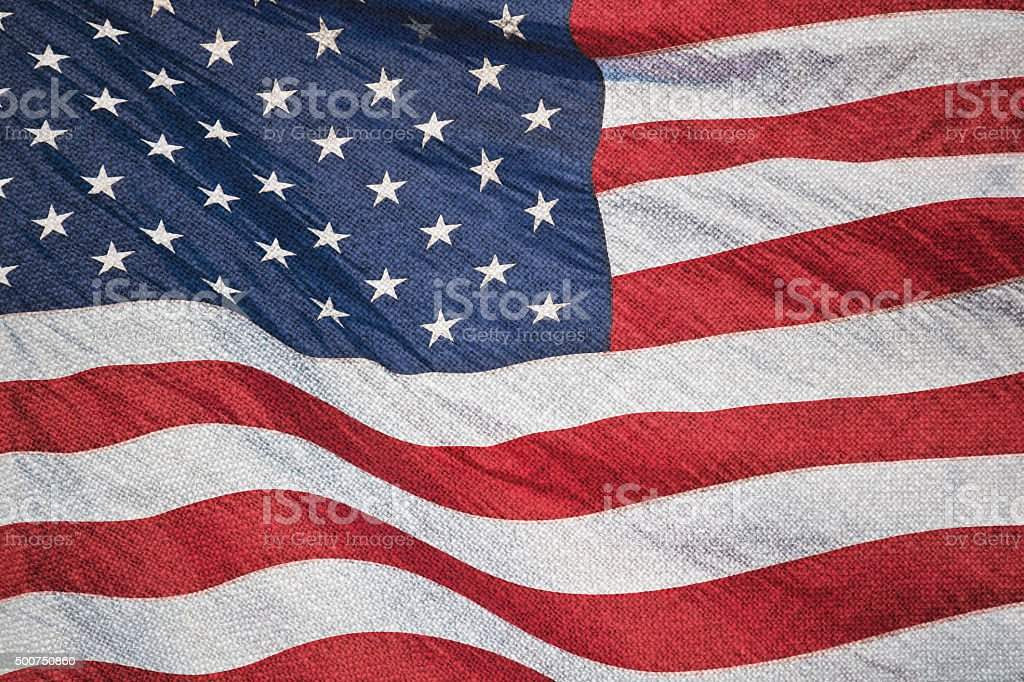Stars and stripes on textile stock photo