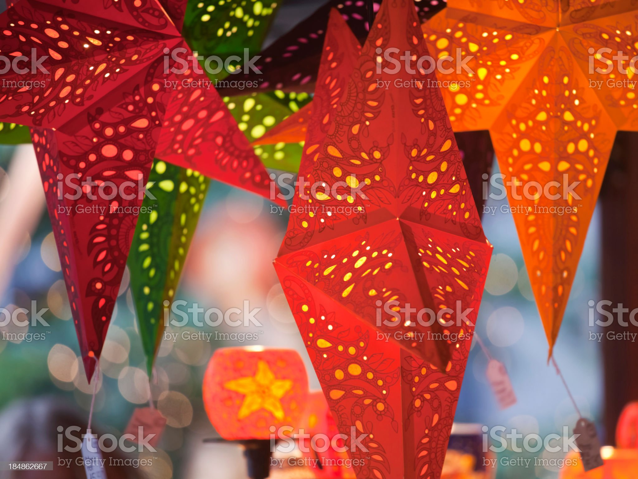 Stars & Candles royalty-free stock photo