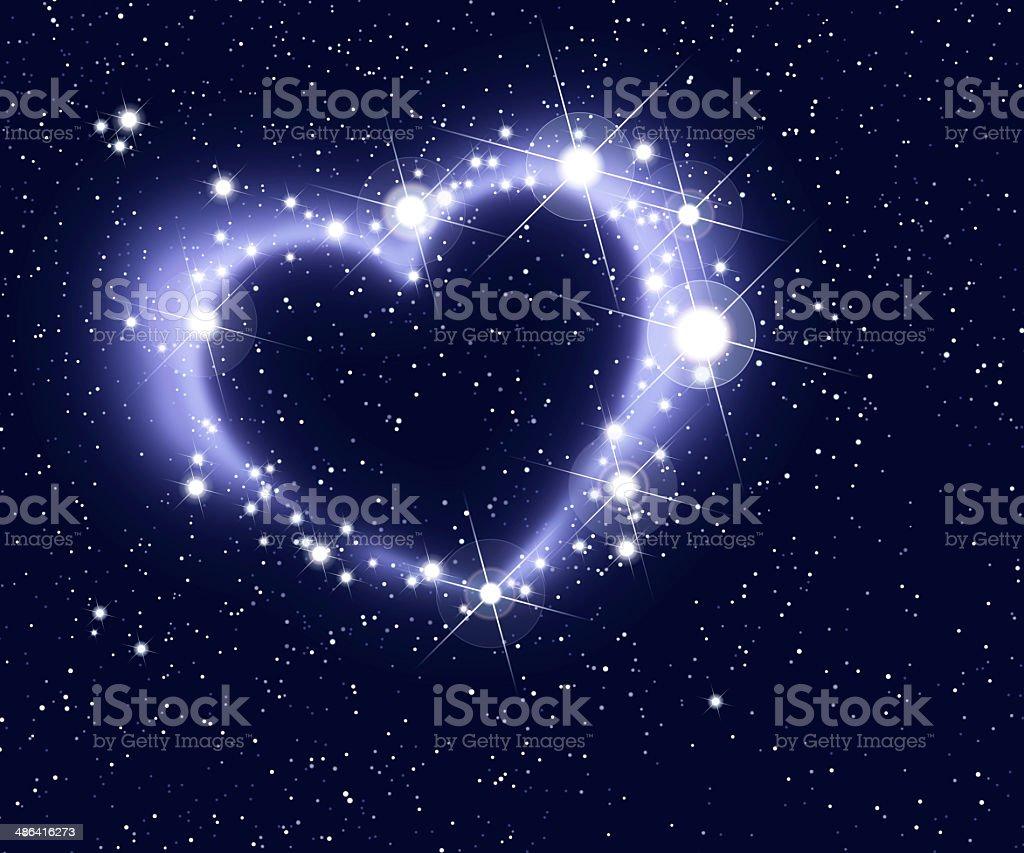 Stars Form A Heart stock photo