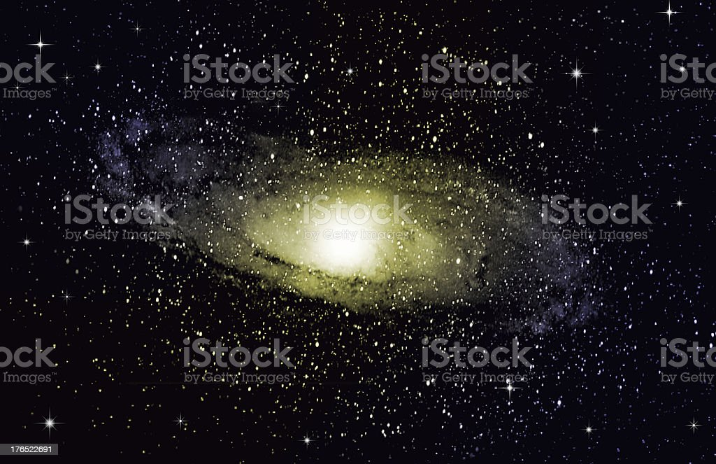 Stars in deep space royalty-free stock photo