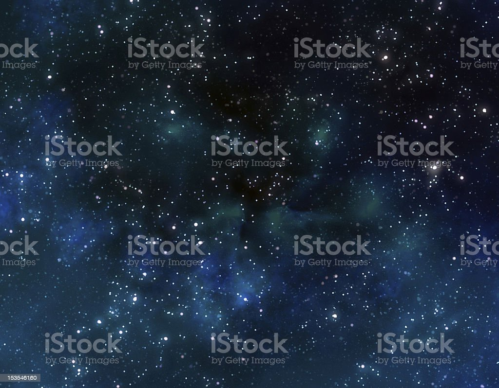 stars in outer space stock photo