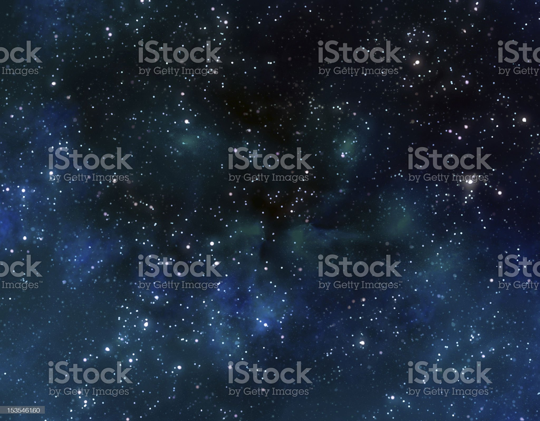 stars in outer space royalty-free stock photo
