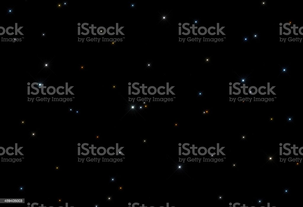 Stars in Space royalty-free stock photo