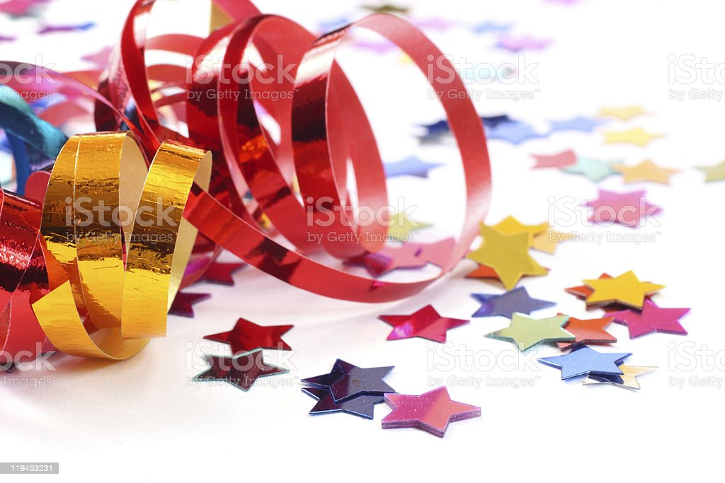 Stars in the form of confetti stock photo