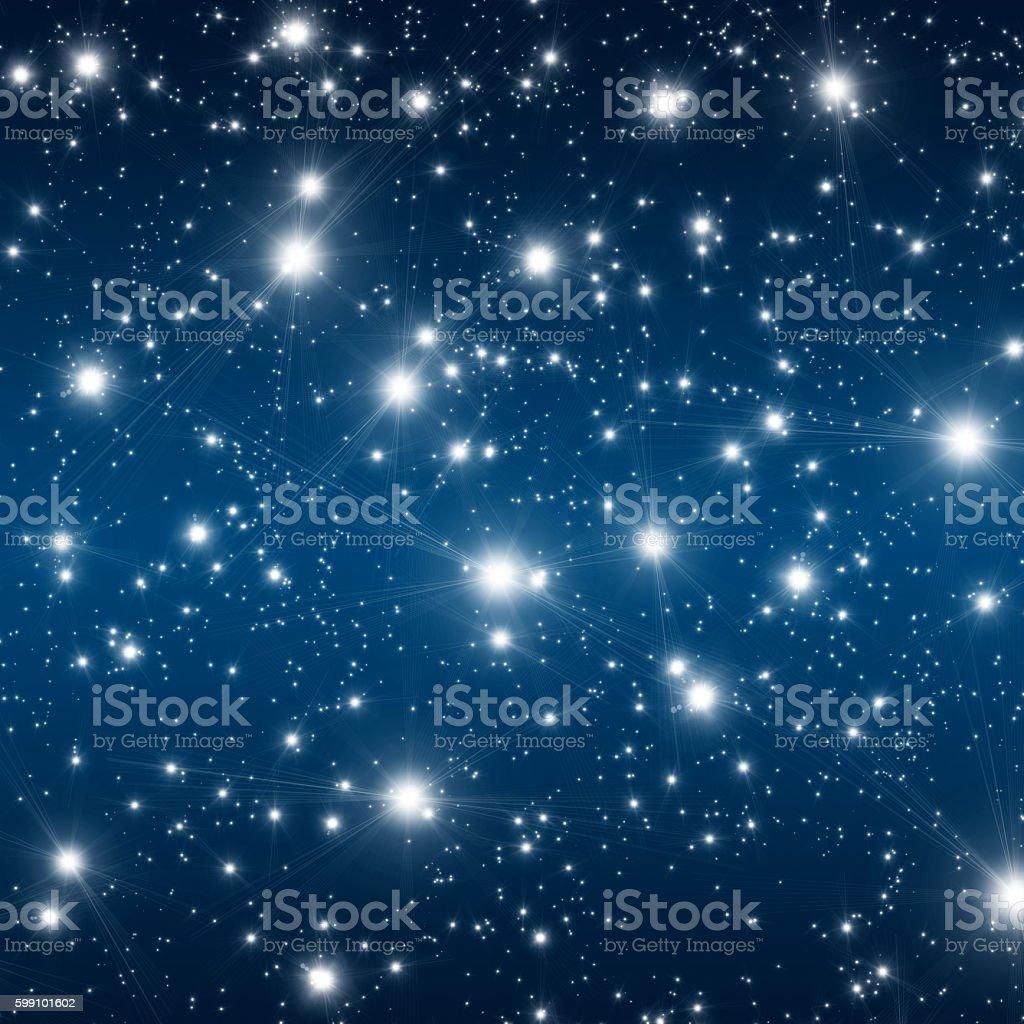 Stars in the ksy stock photo