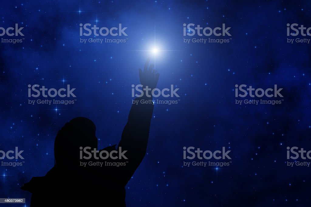 Stars in the Milky Way stock photo