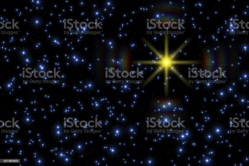 Stars in the Milky Way royalty-free stock photo