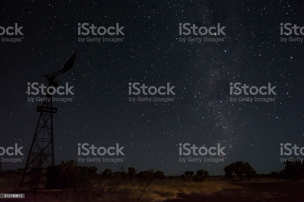 Stars in the outback of Australia stock photo