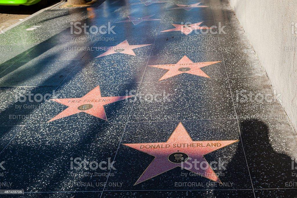stars  like Donald Sutherland or Friz Freleng on Hollywood Boulevard stock photo