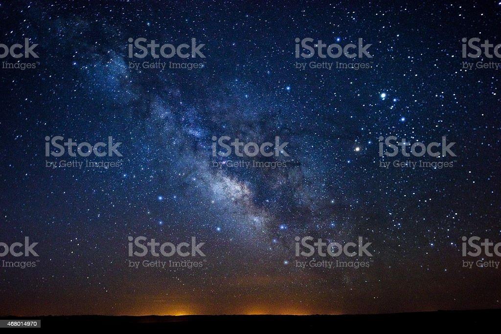 Stars Milky Way stock photo