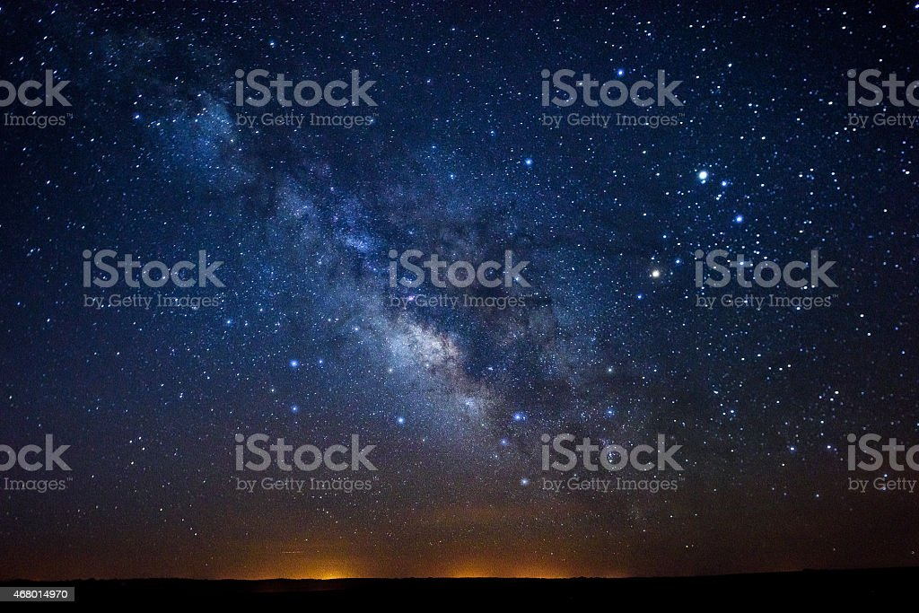 Stars Milky Way stock photo
