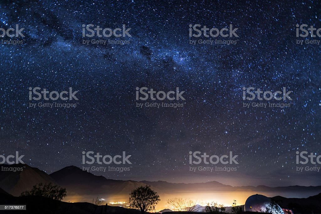 Stars of Vicuna, Chile stock photo