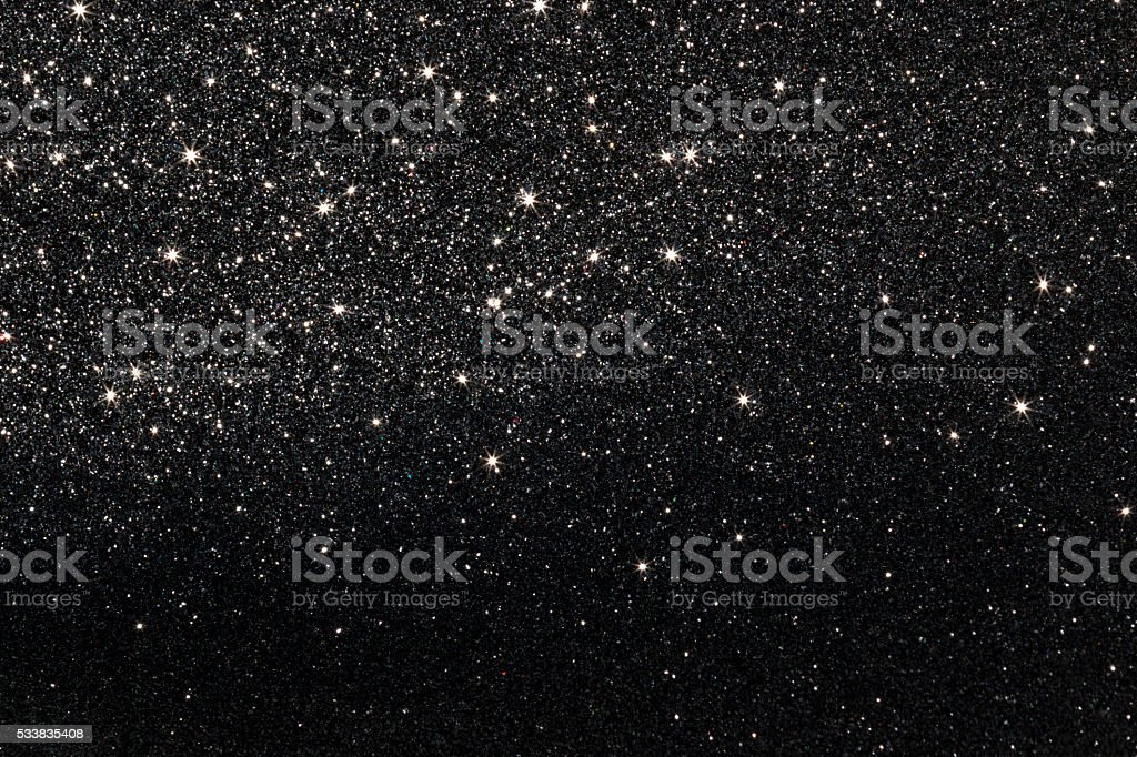 Stars on Black Background stock photo