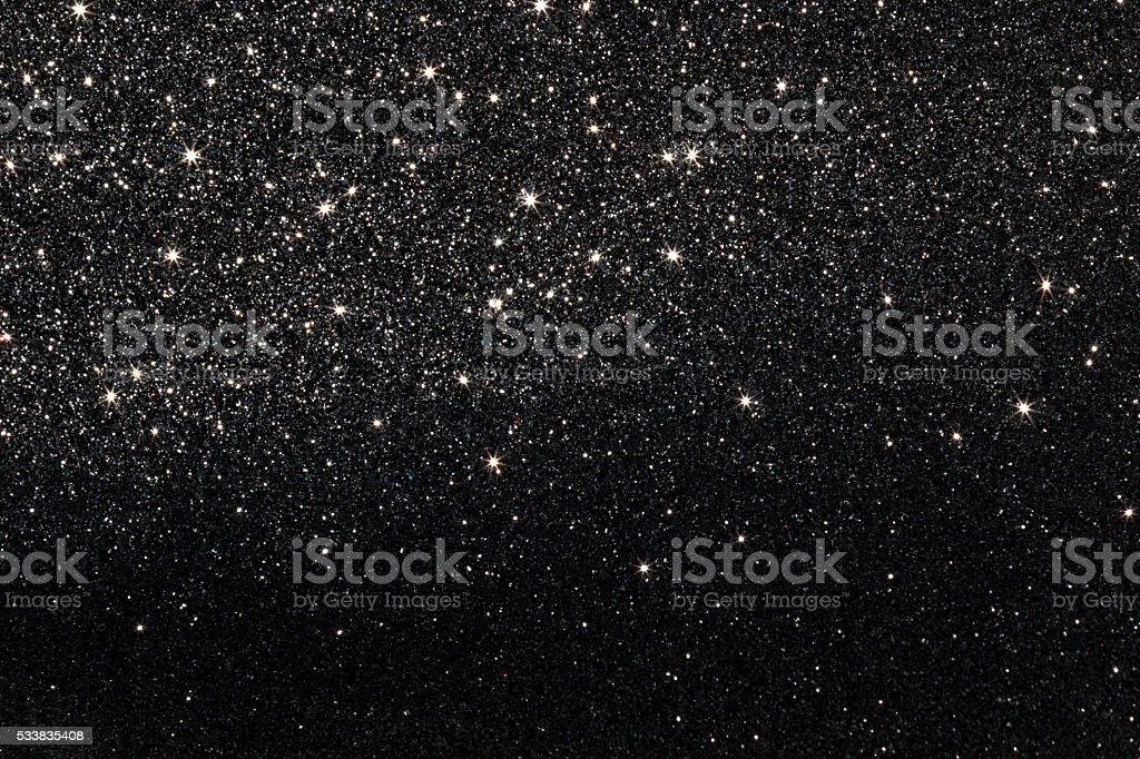 Stars on Black Background stock photo
