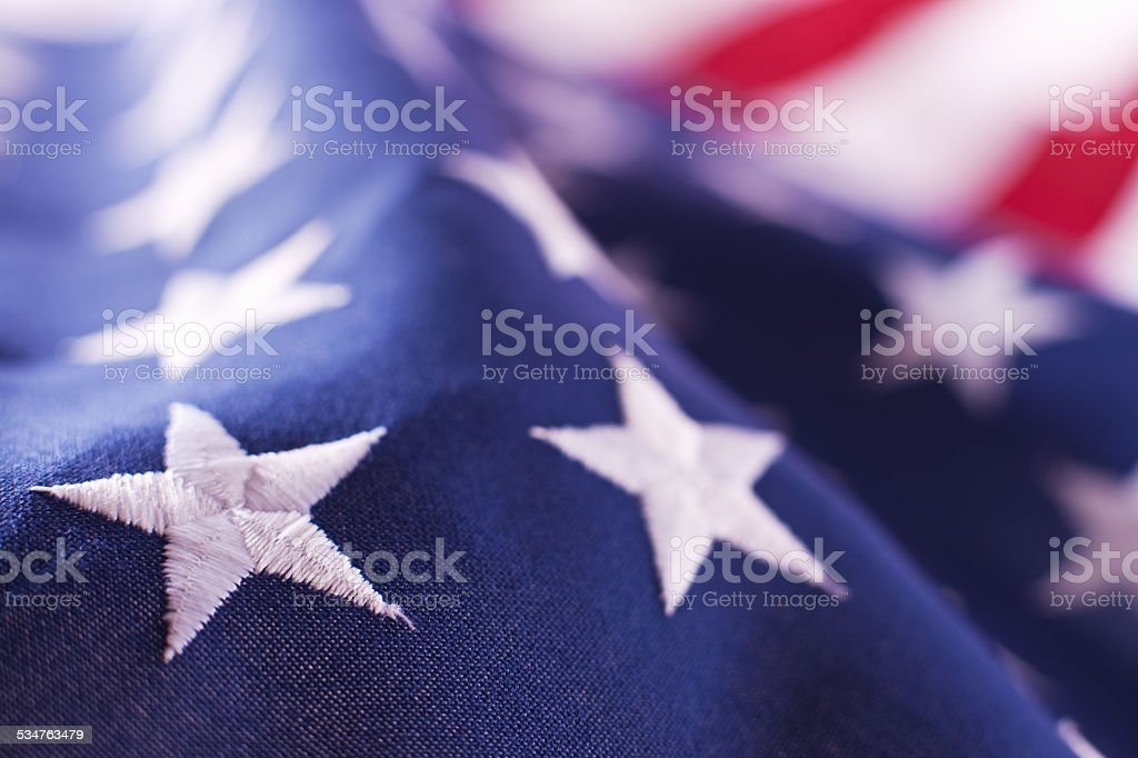 Stars On North American Flag stock photo