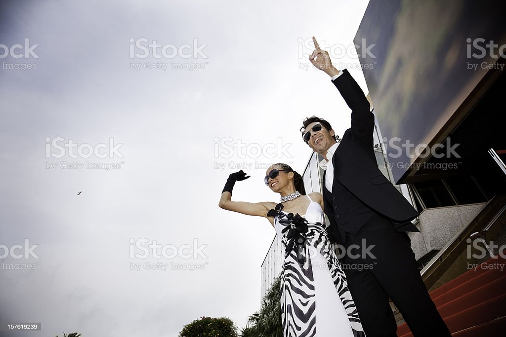Stars on red carpet royalty-free stock photo