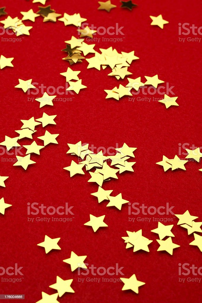 Stars on Red stock photo