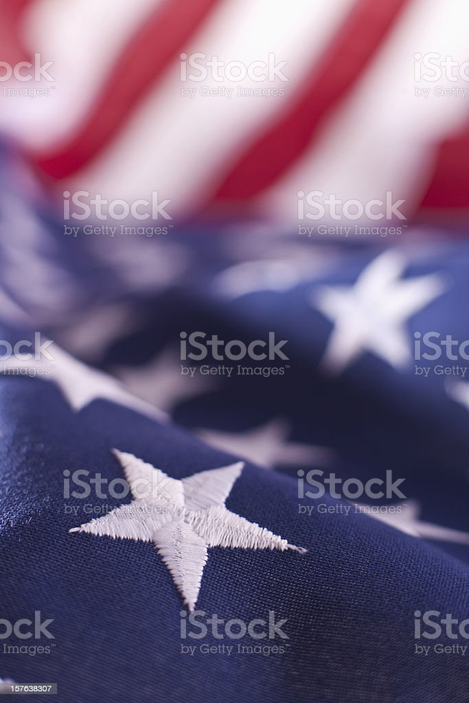 Stars on the American Flag royalty-free stock photo