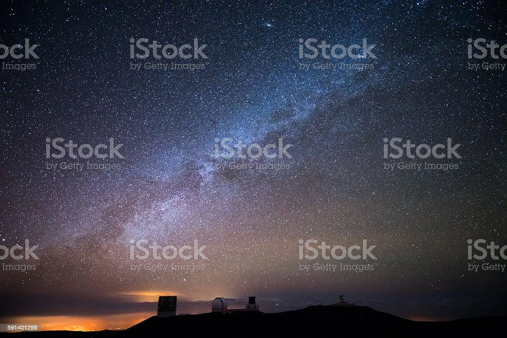 Stars over Hawaii stock photo