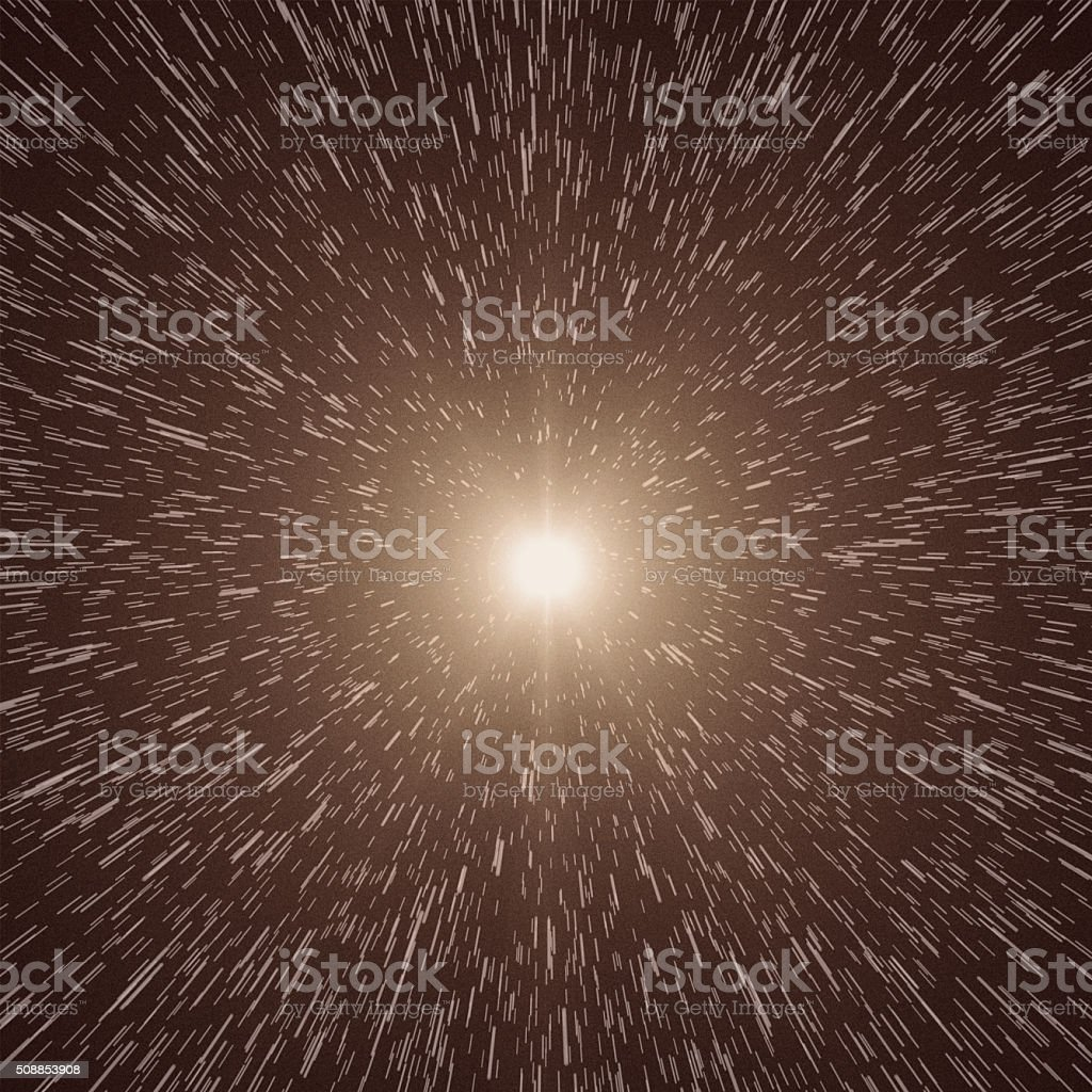 Stars, Space Warp stock photo