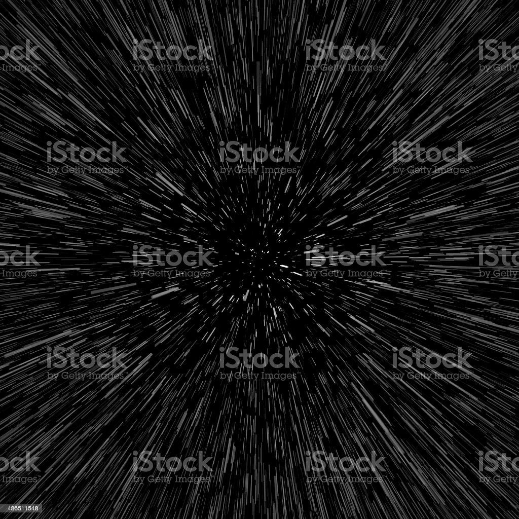 Stars, Space Warp, Travel Image stock photo