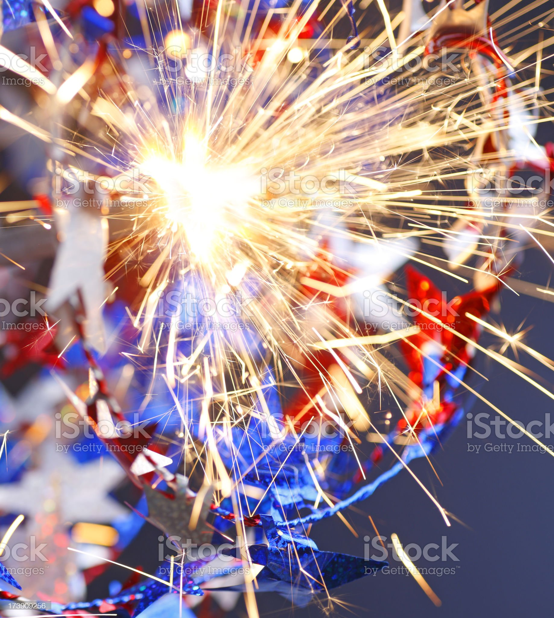 Stars & Sparkler royalty-free stock photo