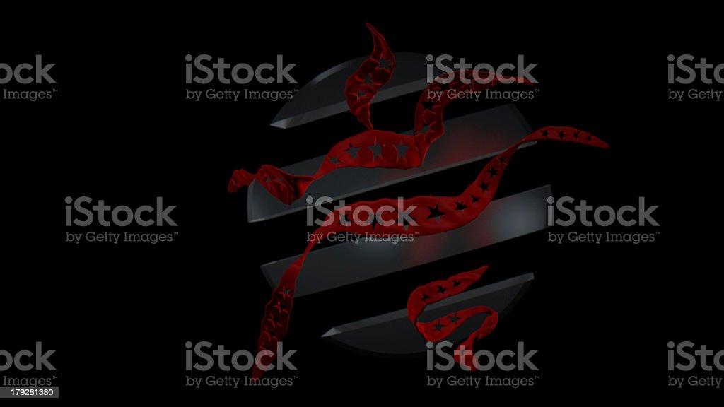 Stars & Stripes Icon stock photo