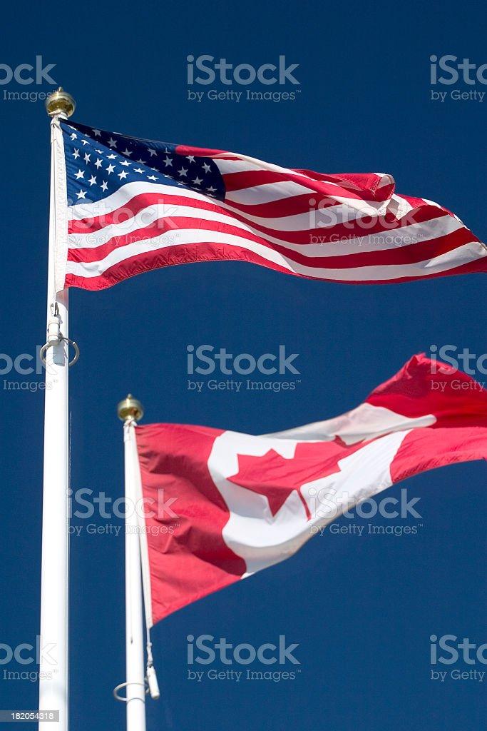 Stars & Stripes & Maple Leaf royalty-free stock photo