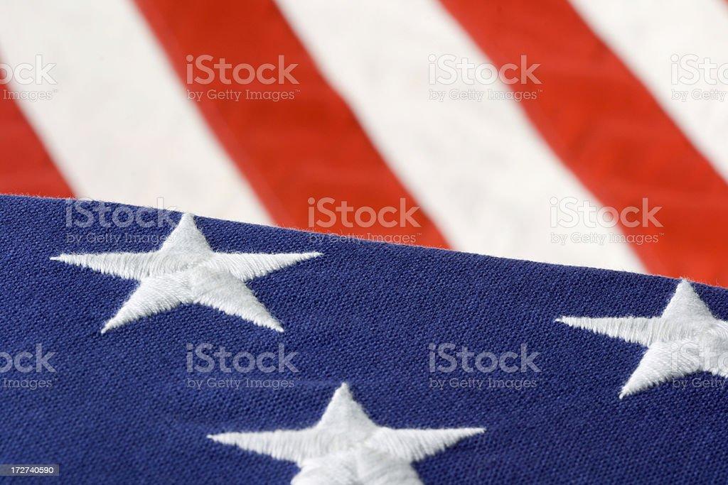 Stars & Stripes of United States Hz royalty-free stock photo
