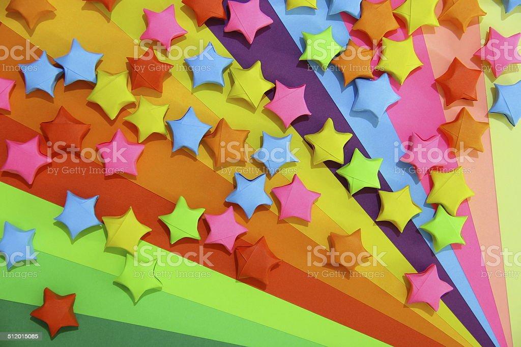 Stars with Rainbow stock photo