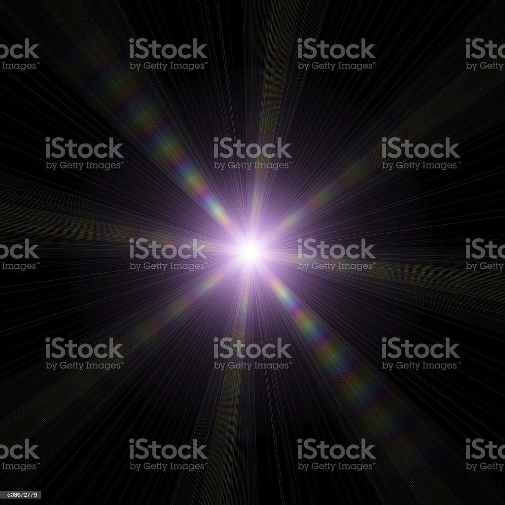 Star-shape on a dark background stock photo