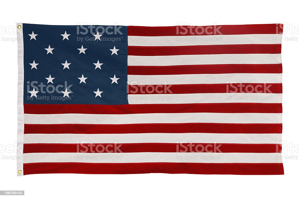 Star-Spangled Banner USA Flag With Fifteen Stars and Stripes stock photo