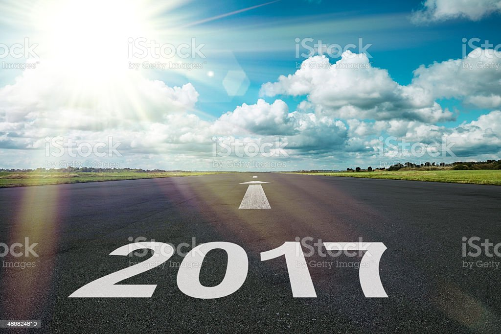 Start 2017 stock photo