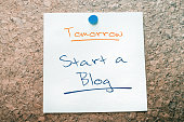 Start A Blog Reminder For Tomorrow Pinned On Cork Board