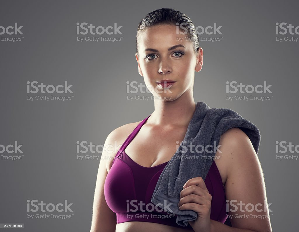 Start an exercise regimen and stick to it stock photo