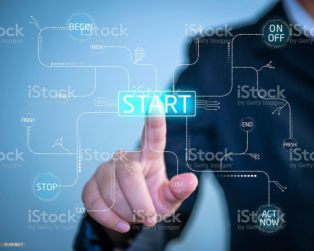 Start Beginnings stock photo