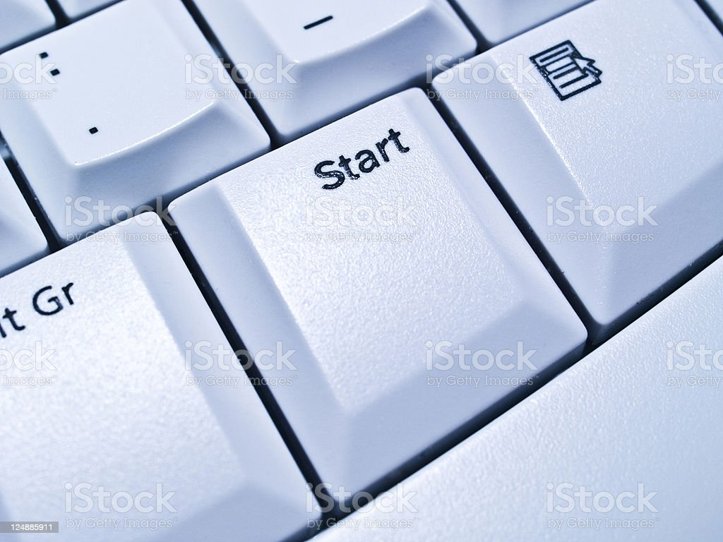 Start button on keyboard royalty-free stock photo