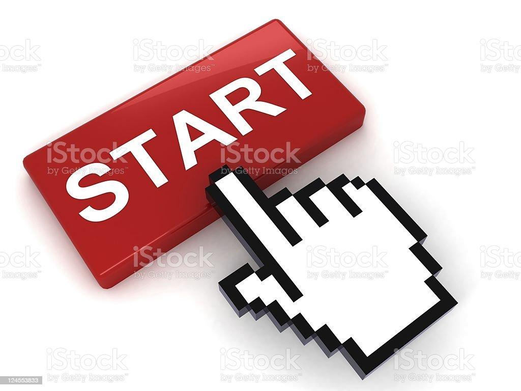 Start Button royalty-free stock photo