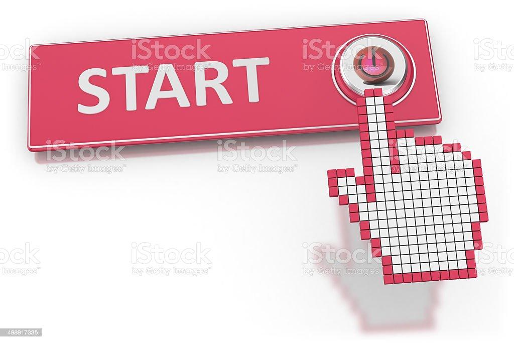 Start - Button stock photo