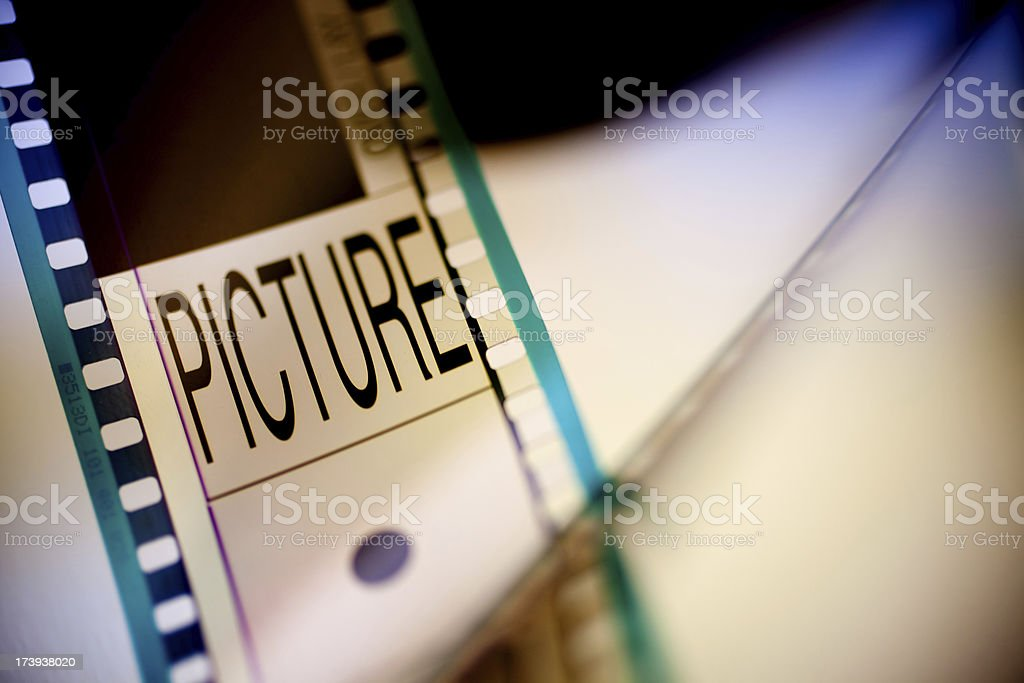 Start cinema reel royalty-free stock photo