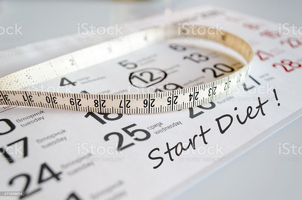Start Diet Concept stock photo