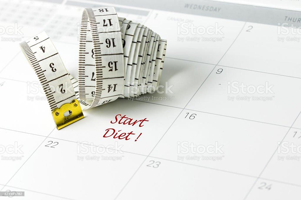 Start diet stock photo