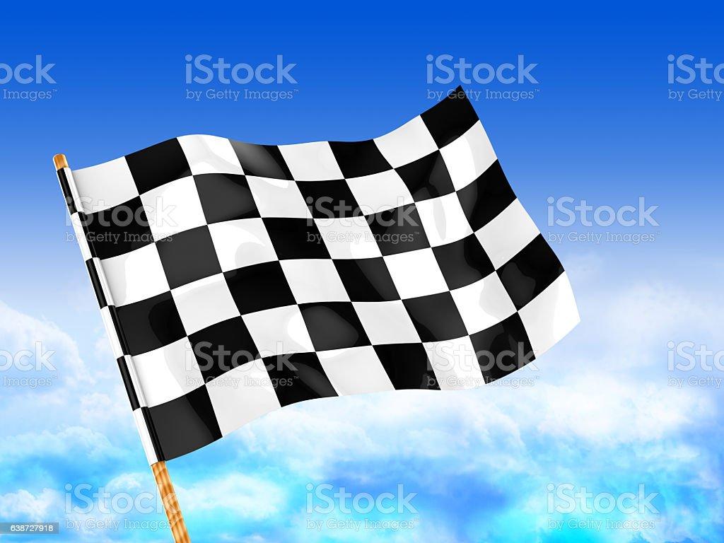 start flag stock photo